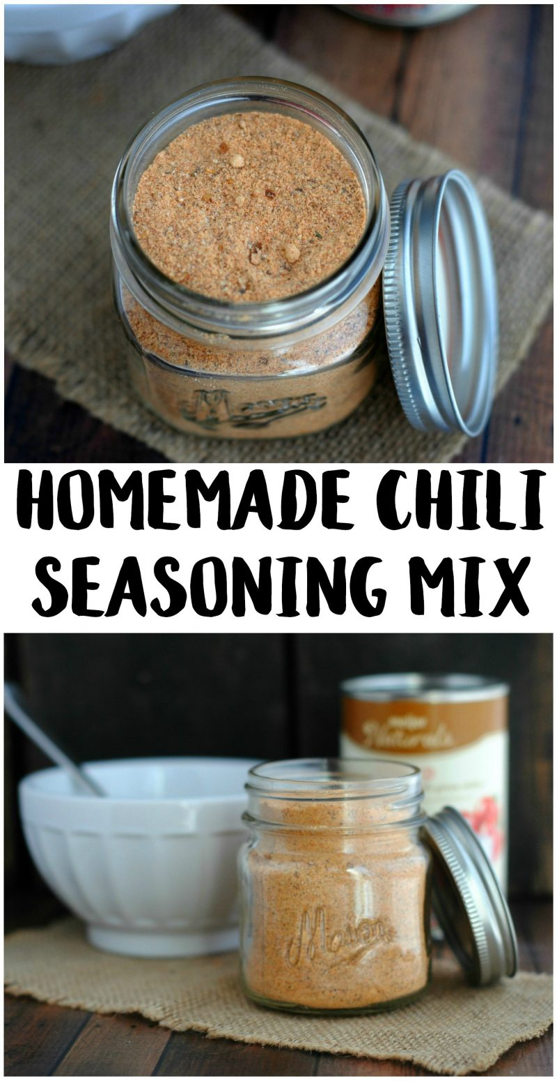This DIY Homemade Chili Seasoning Mix recipe is the best- it's so easy and delicious! Make a whole batch of it and keep it in the pantry for an easy week night meal solution.