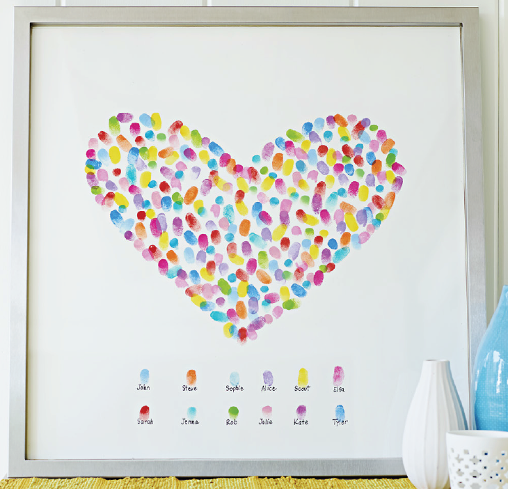 Valentine's Day Decor Idea: Fingerprint Heart Art - {Not ...