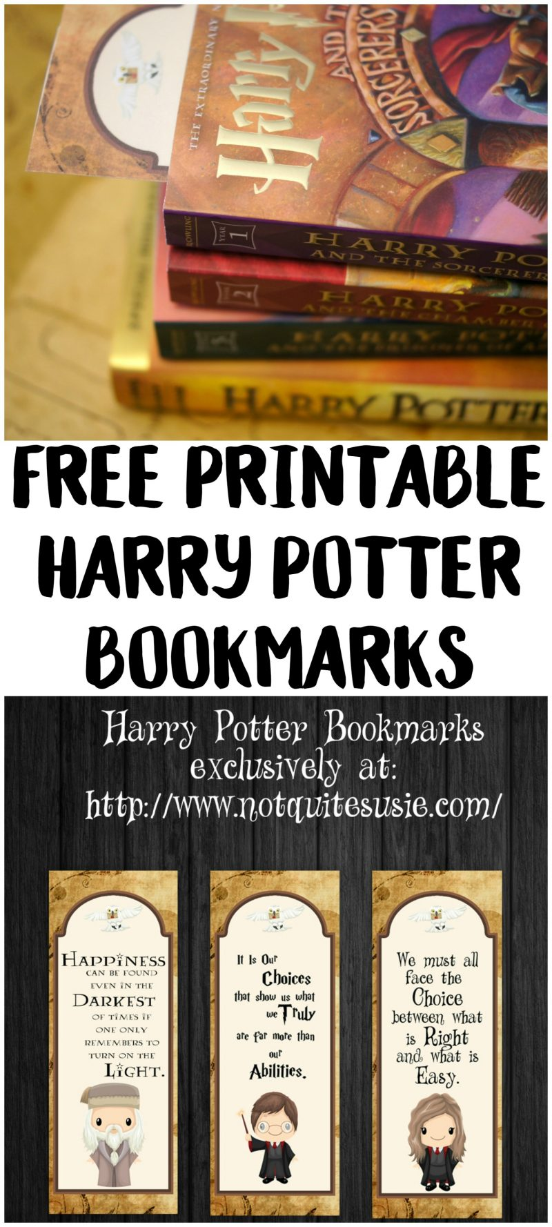 Harry Potter Book Free Download : Free printable harry potter bookmarks not quite susie