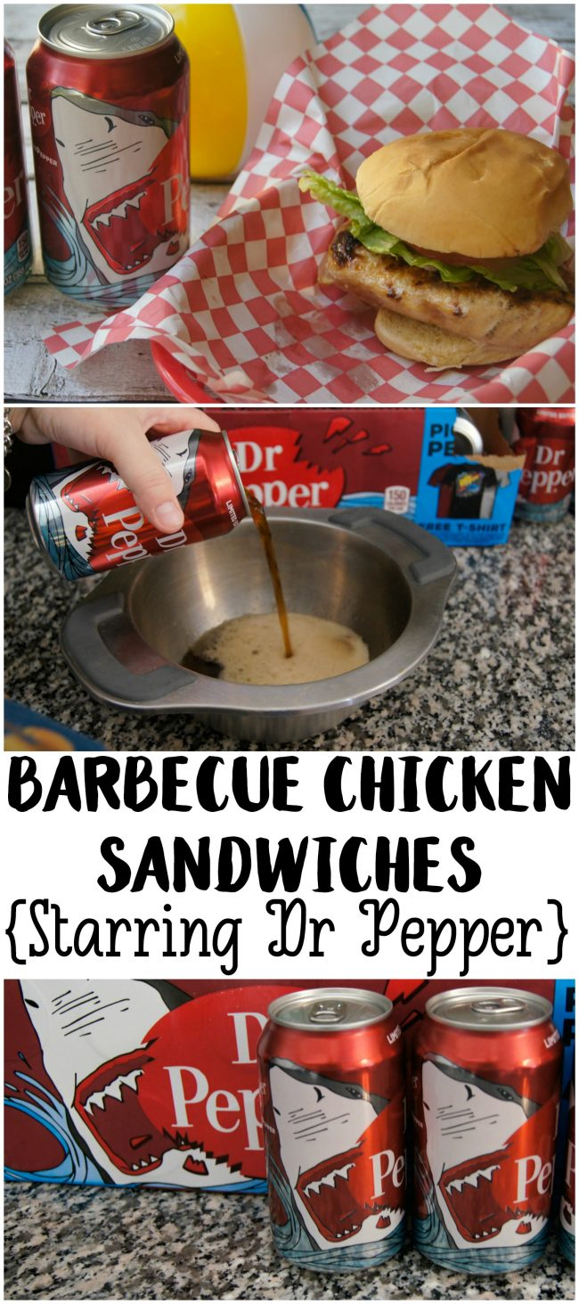 Need the perfect summer BBQ grilling recipe? These easy Barbecue Chicken Sandwiches starring Dr Pepper are so delicious and so easy to customize! Just add the toppings of your choice to the grilled chicken {I recommend lettuce and tomatoes or cole slaw!} and a couple of side dishes and you have the perfect summer weekend menu!