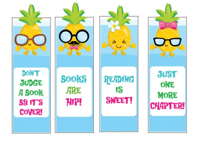 graphic regarding Free Printable Pineapple referred to as Free of charge Printable Pineapple Bookmarks - Not Pretty Susie Homemaker