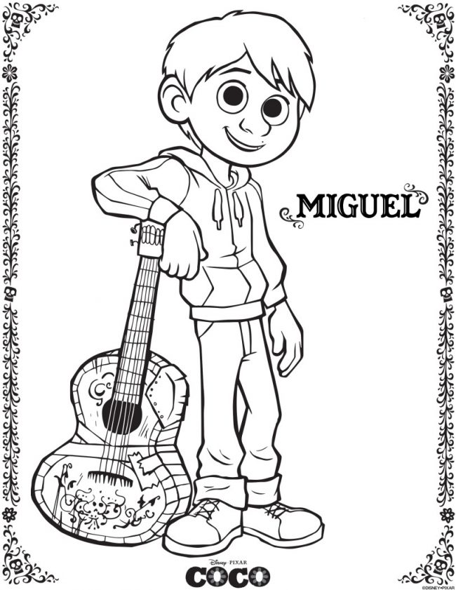 Excited for Disney Pixar's new film Coco? Come check out these free printable coloring and activity pages featuring Miguel, Dante, Hector, and more before this Dia de los Muertos movie comes out this Thanksgiving!
