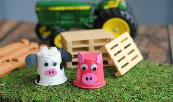 DIY Upcycled Farm Animal K-Cups Craft