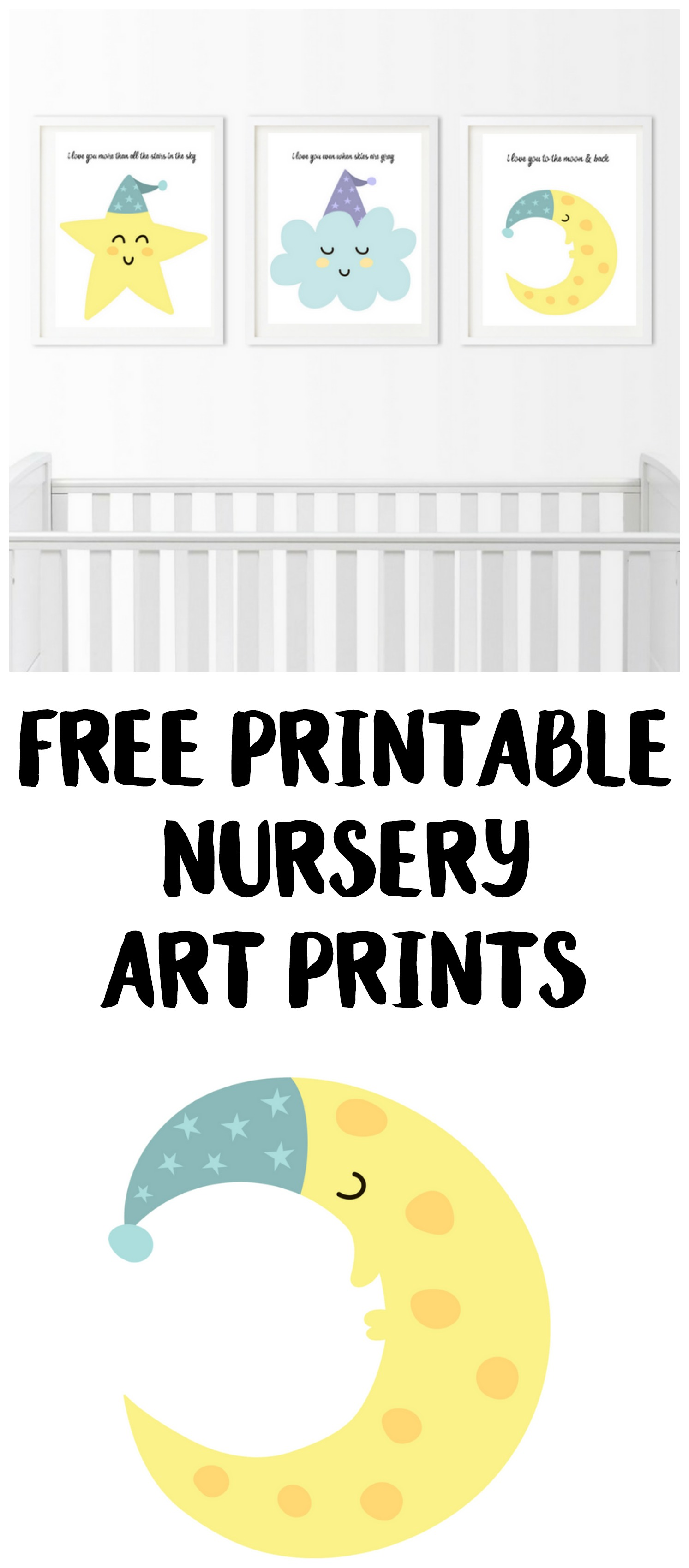 photo regarding Free Printable Nursery Art titled No cost Nursery Artwork Prints: I Enjoy By yourself In the direction of The Moon And Back again