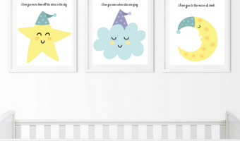 Free Nursery Art Prints: I Love You To The Moon And Back!