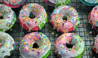 Rainbow Unicorn Sprinkles Donuts Recipe
