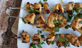 Grilled Chicken Kebabs with Spicy Peanut Sauce