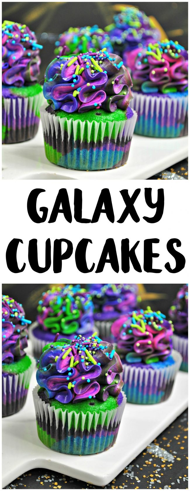 Are you excited about the newest Star Wars movie, Solo: A Star Wars Story? Or do you just love all things galaxy? Either way, these DIY delicious and gorgeous galaxy cupcakes aren't just space inspired with the frosting- the whole cupcake is out of this world! They're perfect for birthday parties or just appreciating the beauty of the universe. Get the recipe tutorial and learn how to make them now!
