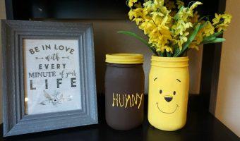 5 Minute Crafts: Winnie the Pooh Mason Jar Vases!