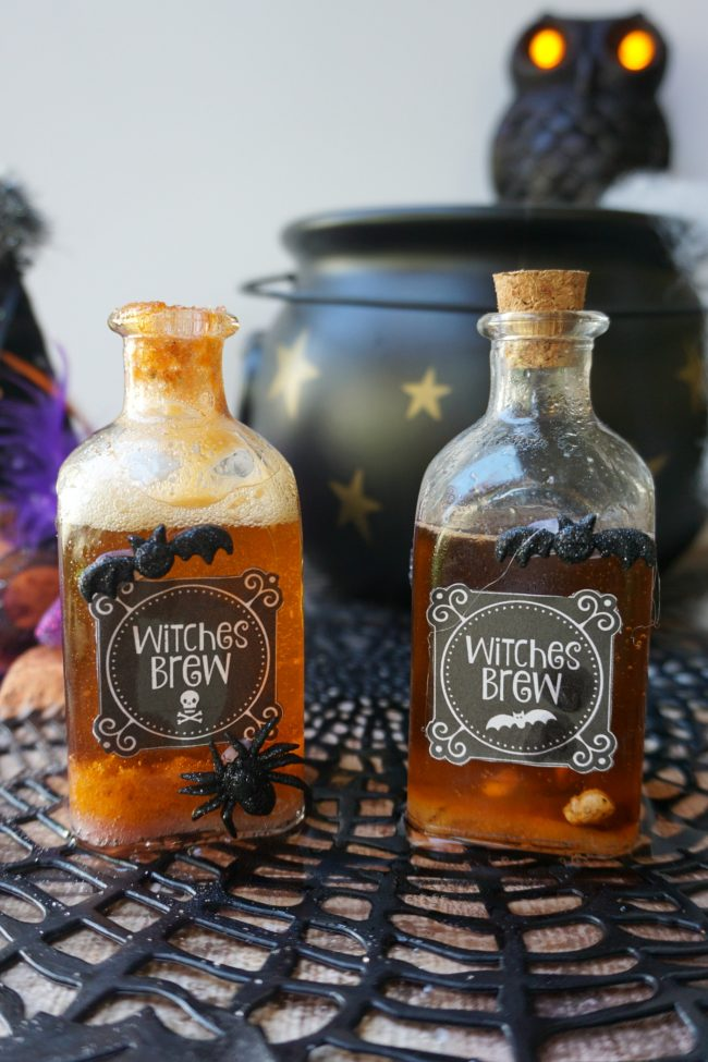 Whether you're trying to get that Harry Potter in Potions class aesthetic or you need some cheap and easy Halloween decor ideas, don't miss these free printable Witches Brew Potion Bottle Labels! Just grab these free printable labels and an inexpensive {or vintage!} glass jar and DIY some magic!