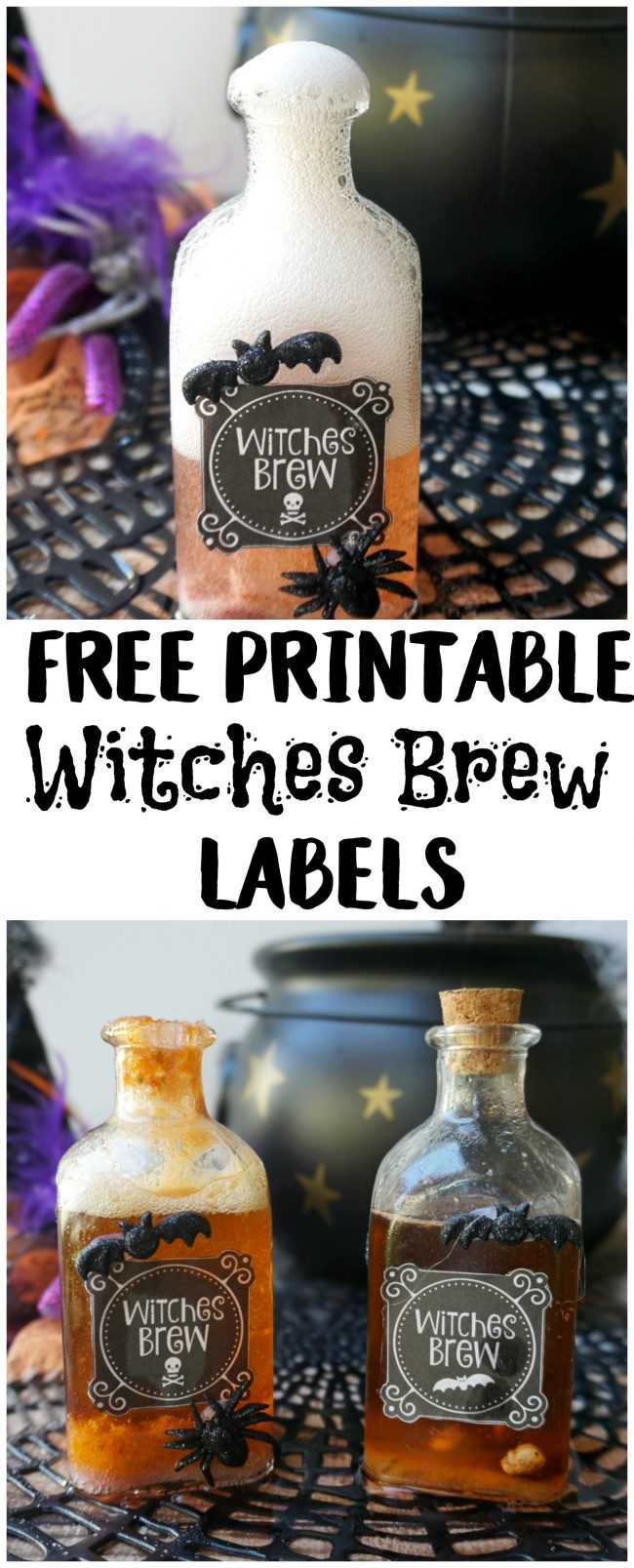 picture regarding Printable Harry Potter Potion Labels identify Absolutely free Printable Halloween Witches Brew Labels - Not Fairly