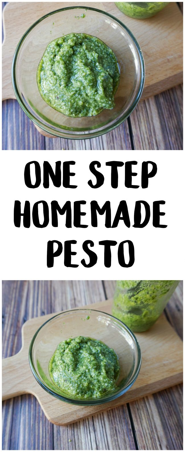 Pesto is a delicious sauce featuring fresh basil that you can use on all kinds of dishes, including chicken, pasta, risotto, and even pizza! This easy homemade pesto recipe shows you how to get fresh and delicious pesto in just one step!