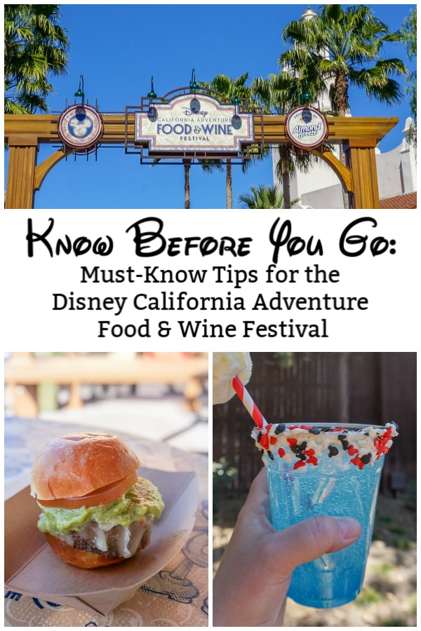 Have you ever been to the Disney California Adventure Food and Wine Festival? Whether this is your first time or you're a pro at hitting the food and drink booths, I have all the tips you need to know before you hit the event this year. From dates to menu options to shows and souvenirs, you can make the most of your trip whether it's a Disneyland trip for adults or with toddlers. {And there are pictures to help with your planning!}