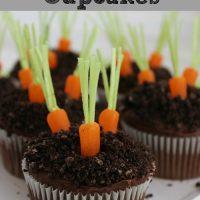 Pudding Filled Carrot Garden Cupcakes Recipe