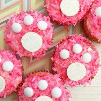 Easter Bunny Footprint Cupcakes