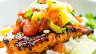 Grilled Pineapple Chicken with BBQ Sauce