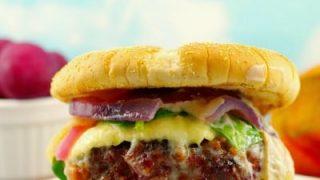 Award-winning Gourmet Sirloin burger (with beets)