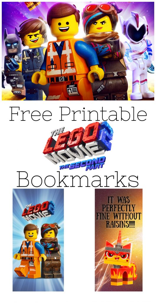 Did your family love The Lego Movie 2: The Second Part as much as mine? Check out these free printable bookmarks featuring favorite characters like Emmett and Unikitty, and some of their most funny quotes!
