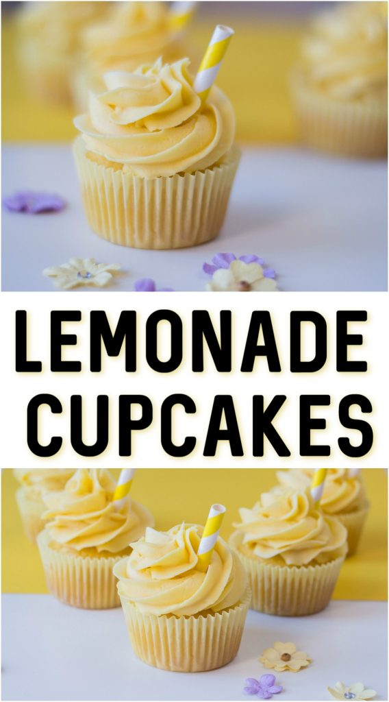 Whether you need ideas for a birthday party or having a lemonade stand- or just want some easy and adorable lemon desserts- this Lemonade Cupcakes recipe is perfect! These homemade cupcakes are delicious and finished with the cutest decoration for a sweet treat!