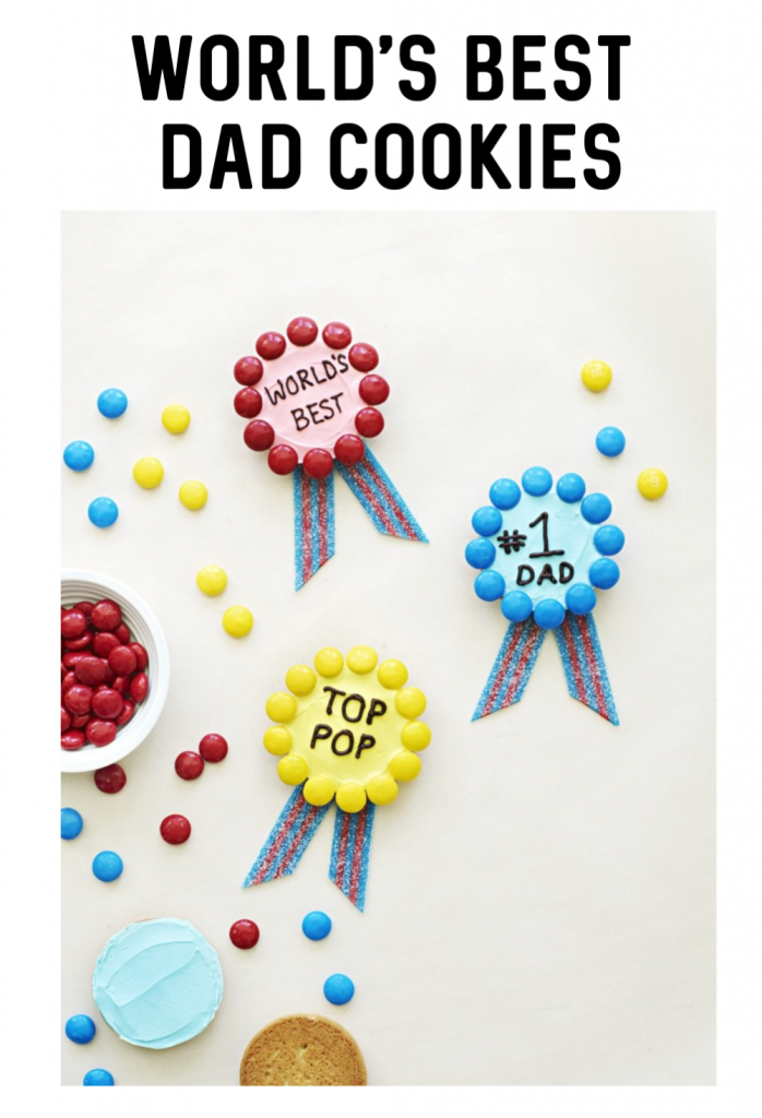 World's Best Dad Cookies for Father's Day or Dad's Birthday- or any time! These cookies are easy to make and decorate and can be used for any celebration.