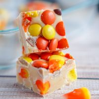 White Chocolate Candy Corn Fudge