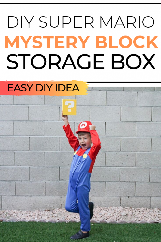 If you have a Nintendo Switch or 3DS console, you know it comes with a lot of characters, accessories, and more. Make this easy DIY Super Mario Mystery Block DIY Storage Block so you have somewhere to keep them all! This would also make great party décor or as a room decoration!