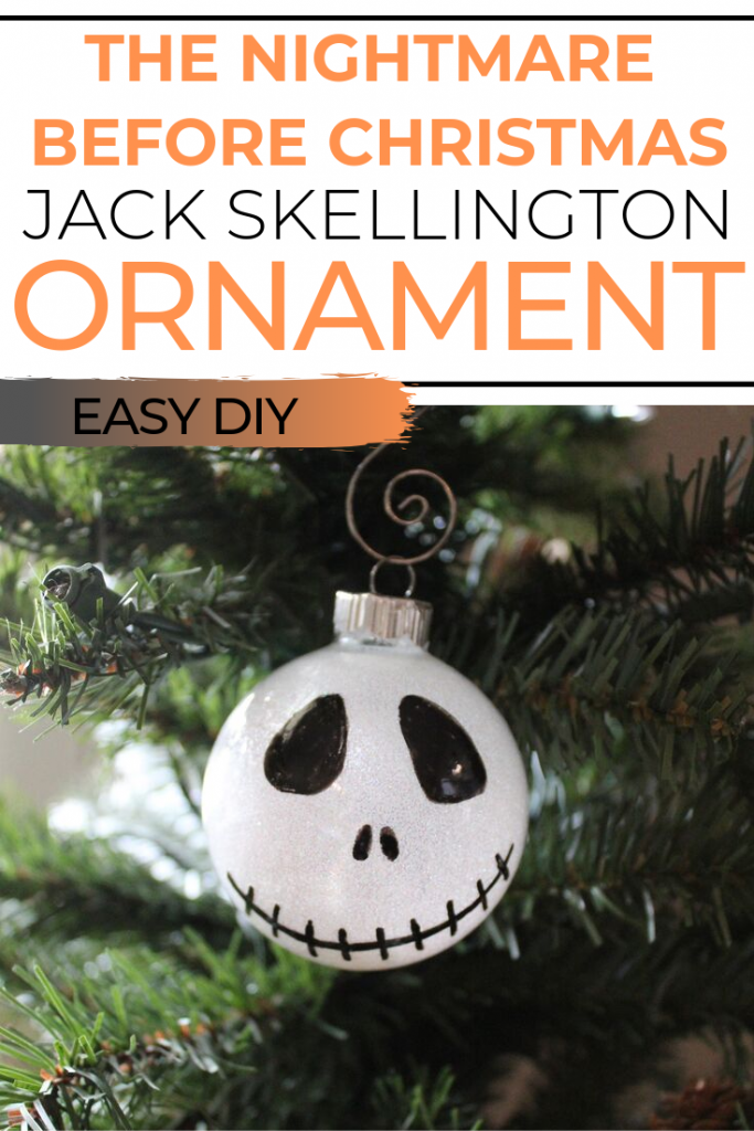 The Nightmare Before Christmas is such a great movie because you can enjoy it for Halloween or Christmas. This DIY Jack Skellington Ornament is the same- hang it on your Halloween tree and then move it to your Christmas tree! Jack and Sally decorations can be enjoyed for months to come.