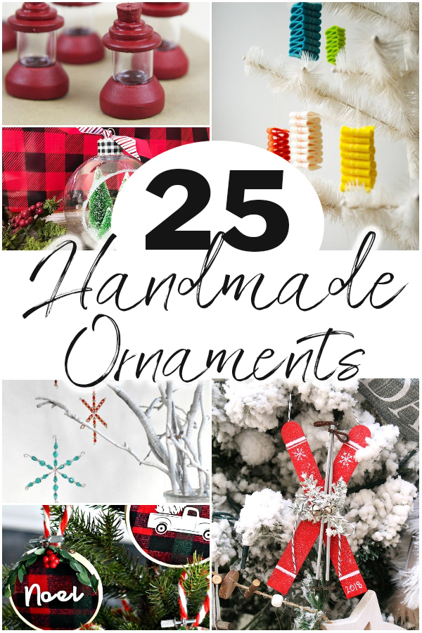 Make your Christmas tree unique this year with some easy DIY homemade Christmas ornaments! Come check out over 25 ideas including some that kids can do. There are personalized ornaments, photo ornaments, glass glitter ornaments, and even rustic wood ornaments. You can even get some of the supplies at the dollar store!