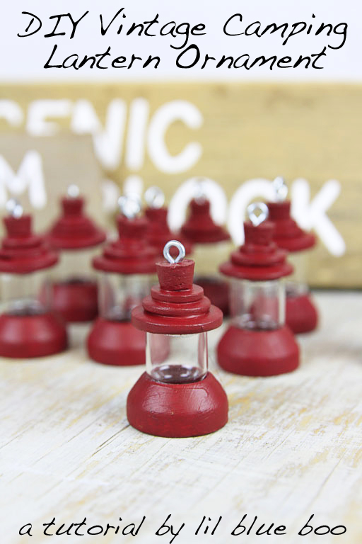 Vintage Camping Lantern Ornaments