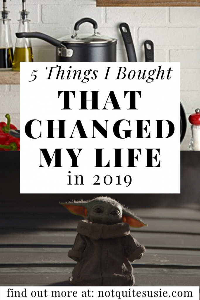 We make purchases every day- and some of those can impact your life drastically. These five items- including some for self care, some for the kitchen, and of course a little Disney- changed my life in 2019!