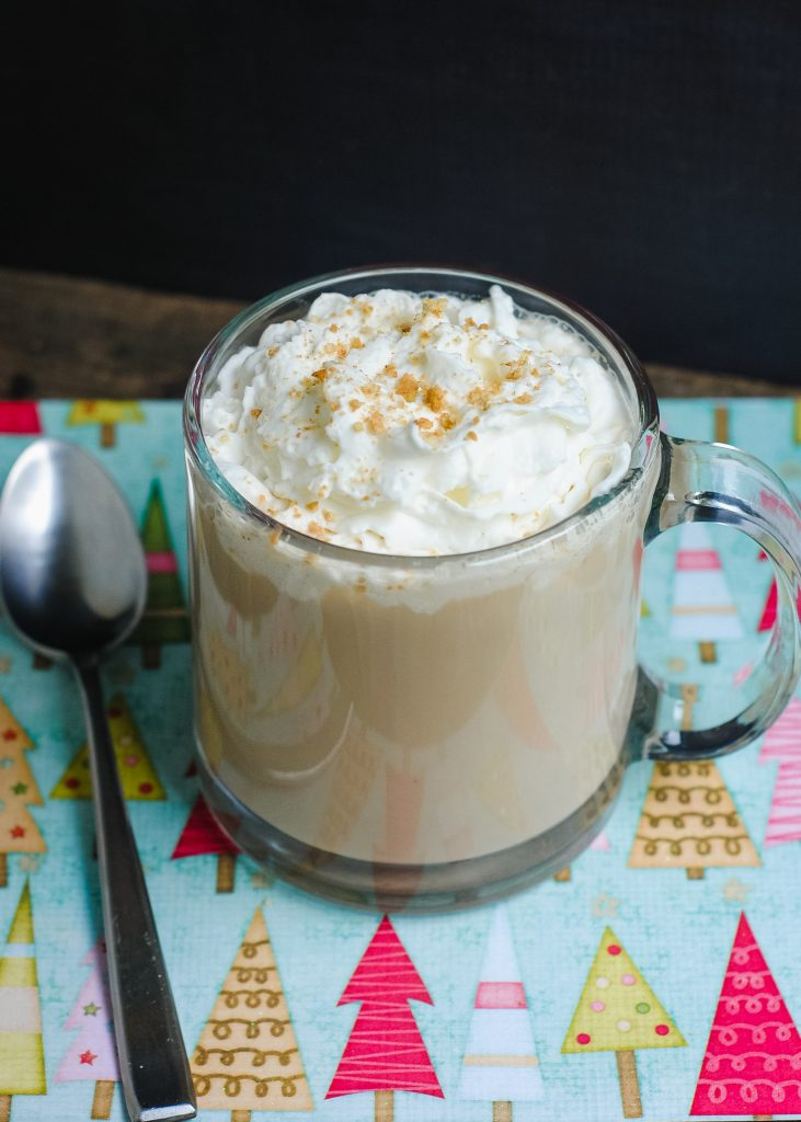 Miss the Starbucks Gingerbread Latte? You can still have a homemade version! This recipe includes directions for making your own hot or iced Gingerbread Latte {red cup not included} and breaks down how to make the Gingerbread Syrup- which you can use for other recipes, like cupcakes or French Toast!