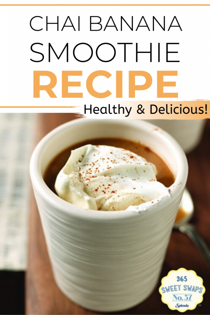Smoothies are a great, healthy breakfast option. This Chai Banana Smoothie recipe is full of fruit and protein and it's so easy to make!