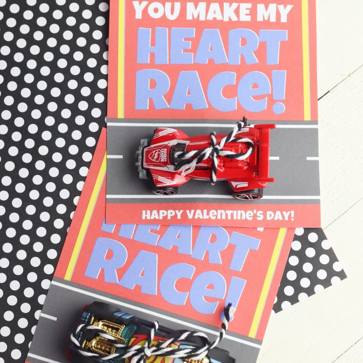 You Make My Heart Race Valentine's Day Cards