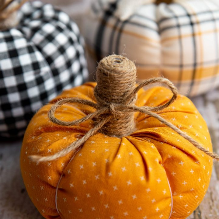 Farmhouse Style Fabric Pumpkins
